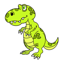 How to Draw a little T. Rex Easy Step by Step for Kids