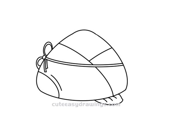 How to Draw a Chinese Zongzi Easy Step by Step for Kids