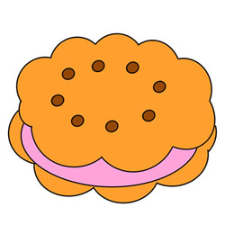 How to Draw a Sandwich Cookie Easy Step by Step for Kids