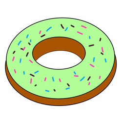 How to Draw a Matcha Donut Easy Step by Step for Kids
