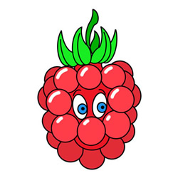 How to Draw a Cartoon Raspberry Easy Step by Step for Kids