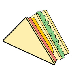 How to Draw a Sandwich Easy Step by Step for Kids