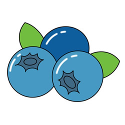 How to Draw Blueberries Easy Step by Step for Kids