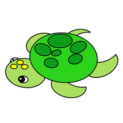 How to Draw a Cute Turtle Easy Step by Step for Kids