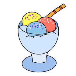 How to Draw a Glass of Ice Cream Easy Step by Step for Kids