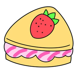 How to Draw a Strawberry Sandwich Easy Step by Step for Kids