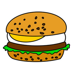 How to Draw a Delicious Hamburger Easy Step by Step for Kids