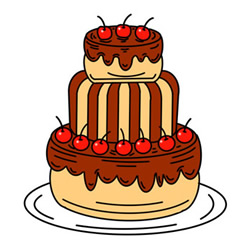 How to Draw a Three-Layer Cake Easy Step by Step for Kids