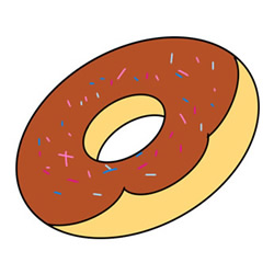 How to Draw a Donut Easy Step by Step for Kids