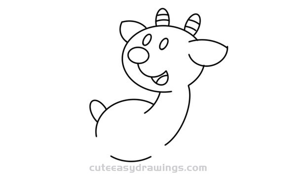 How to Draw a Cartoon Goat Easy Step by Step for Kids