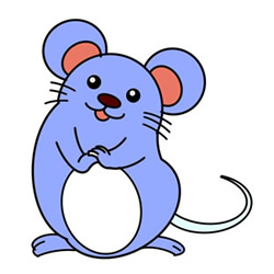 How to Draw a Sitting Mouse Easy Step by Step for Kids