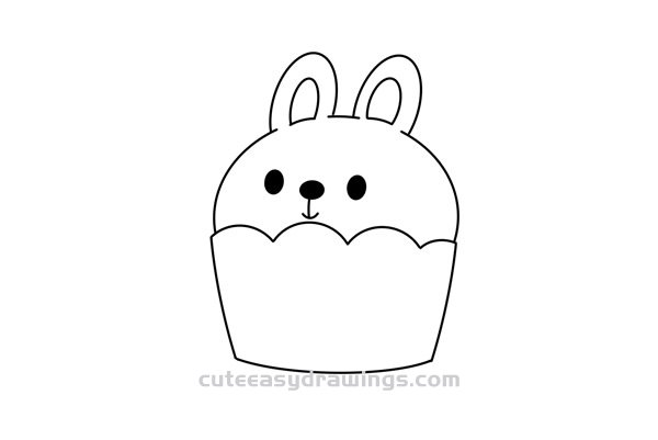How to Draw a Cartoon Cupcake Easy Step by Step for Kids