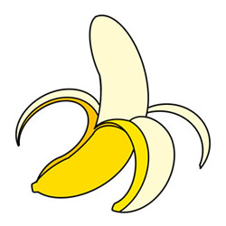 How to Draw a Banana Easy Step by Step for Kids