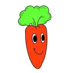 How to Draw a Cartoon Carrot Easy Step by Step for Kids