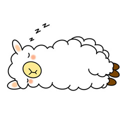How to Draw a Sleeping Cartoon Alpaca Easy Step by Step for Kids
