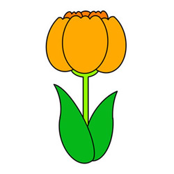 How to Draw a Tulip Easy Step by Step for Kids