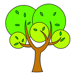 How to Draw a Cute Big Tree Easy Step by Step for Kids