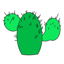 How to Draw a Cute Cactus Easy Step by Step for Kids