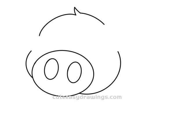 How to Draw a Cute Cartoon Pig Easy Step by Step for Kids