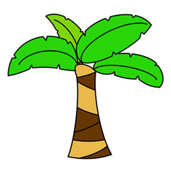 How to Draw a Japanese Banana Tree Easy Step by Step for Kids