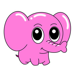 How to Draw a Cartoon Little Elephant Easy Step by Step for Kids