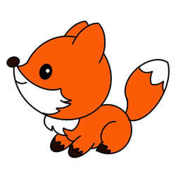 How to Draw a Little Red Fox Easy Step by Step for Kids