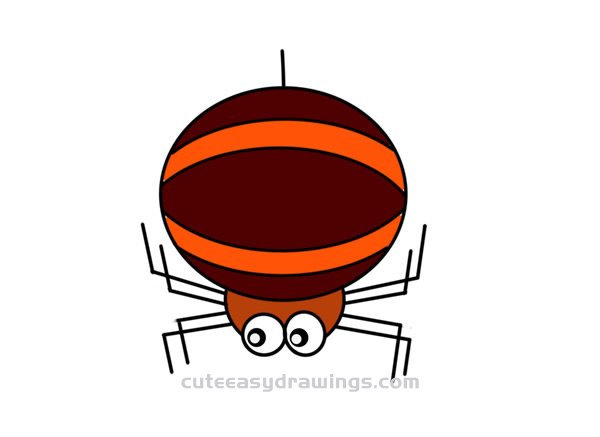 How to Draw a Cartoon Spider Easy Step by Step for Kids