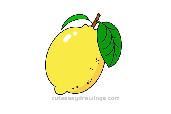 How to Draw a Fresh Lemon Easy Step by Step for Kids
