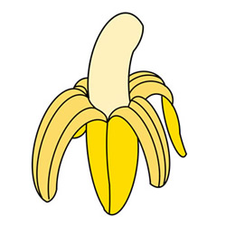 How to Draw a Peeled Banana Easy Step by Step for Kids
