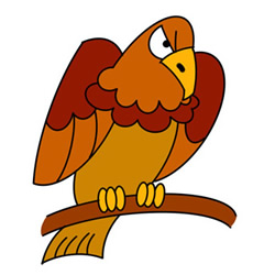 How to Draw an Eagle Landing on Branch Easy Step by Step for Kids