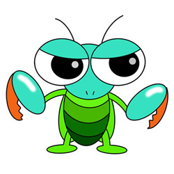 How To Draw A Cartoon Mantis Easy Step By Step For Kids Cute