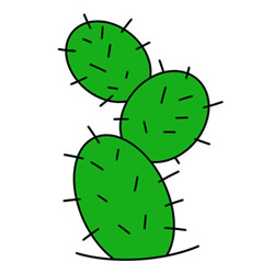 How to Draw a Green Cactus Easy Step by Step for Kids