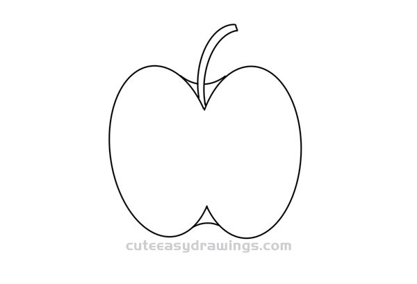 How to Draw Half an Apple Easy Step by Step for Kids