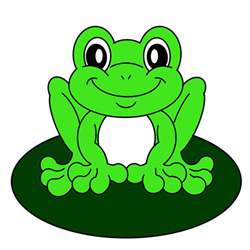 How to Draw a Green Frog Easy Step by Step for Kids