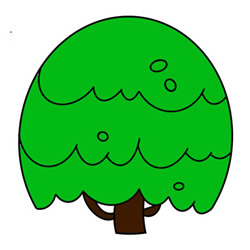 How to Draw a Cartoon Tree Easy Step by Step for Kids
