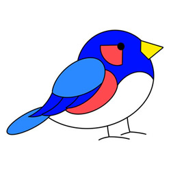 How to Draw a Colorful Bird Easy Step by Step for Kids