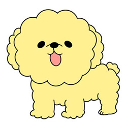 How to Draw a Yellow Poodle Easy Step by Step for Kids