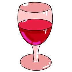 How to Draw a Glass of Red Wine Easy Step by Step for Kids