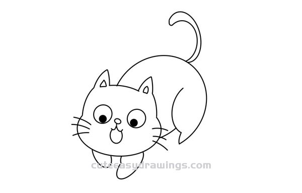 How to Draw a Funny Cat Easy Step by Step for Kids