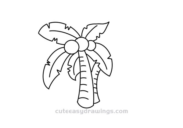 How to Draw a Coconut Tree Easy Step by Step for Kids
