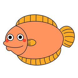 How to Draw a Cartoon Flounder Easy Step by Step for Kids