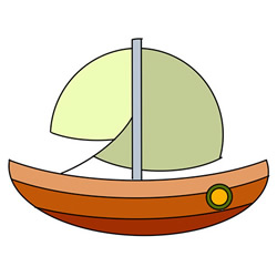 How to Draw a Cute Sailboat Easy Step by Step for Kids