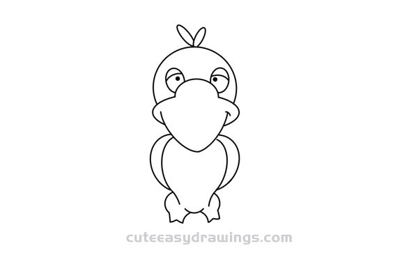 How to Draw a Funny Cartoon Crow Easy Step by Step for Kids