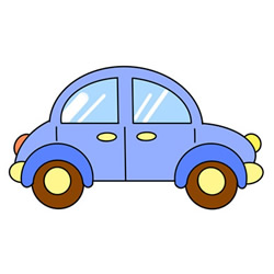 How to Draw a Cute Small Car Easy Step by Step for Kids