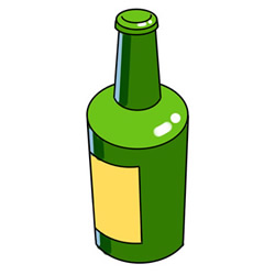 How to Draw a Bottle of Beer Easy Step by Step for Kids