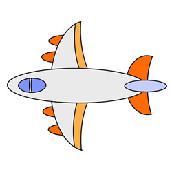 How to Draw a Colored Airplane Easy Step by Step for Kids