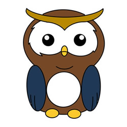 How to Draw a Cute Cartoon Owl Easy Step by Step for Kids