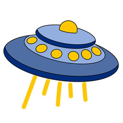 How to Draw a Cute UFO Easy Step by Step for Kids