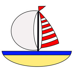 How to Draw a Cartoon Sailboat Easy Step by Step for Kids