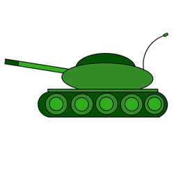 How to Draw a Tank Easy Step by Step for Kids